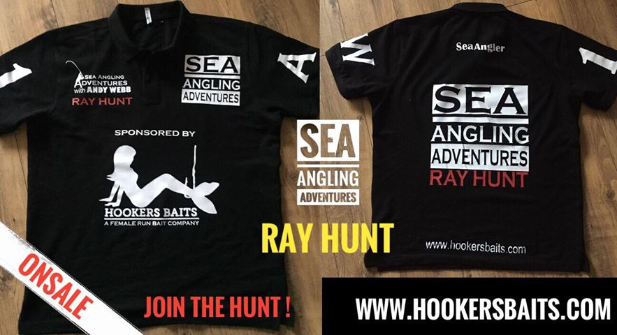 Sea Angling Adventures RAY HUNT Polo